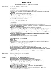 sle of resume lead maintenance technician resume sles velvet