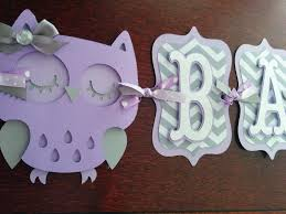 owl baby shower banner it s a girl banner baby banner baby