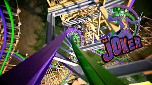 Six Flags Great Adventure Map The Joker Roller Coaster Full Pov Six Flags Discovery Kingdom 2016
