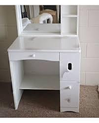 Glossy White Desk by Mokryaun Glossy White Dressing Table Set