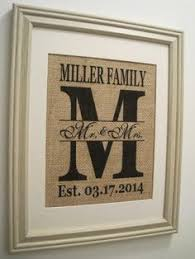 monogrammed wedding gift wedding idea embroidery ideas burlap monogram