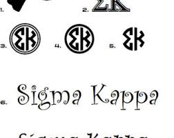 car vinyl decal greek letter sorority fraternity letters names