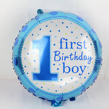 boy 1st birthday 3pcs happy birthday decoration number one balloon blue baloon helium