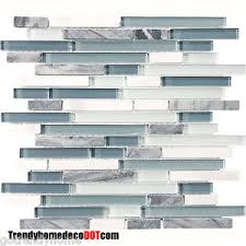 blue glass tile kitchen backsplash sle blue white marble glass mosaic tile kitchen backsplash