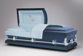 blue casket brand name funeral caskets at wholesale prices
