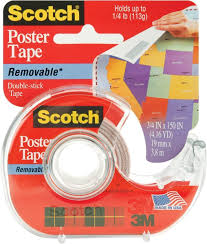 temporary peel off wall paint amazon com scotch removable poster tape 3 4 inch x 150 inches