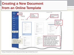 chapter 5 using a template to create a resume and sharing a