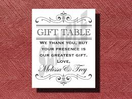 wedding gift table ideas printable wedding reception gift table sign