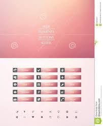 Pink Flat Color Set Of Buttons Royalty Free Stock Photography Image 35832697