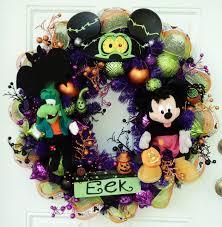 halloween disney wreath mickey mouse werewolf goofy frankenstein