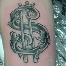 money sign tattoos tattoo collections