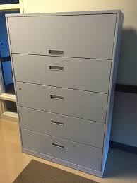 5 Drawer Lateral File Cabinets Pre Owned Office Furniture Thrifty Office Furniture