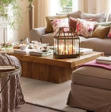 furniture appealing coffee table decor ideas with candle lantern