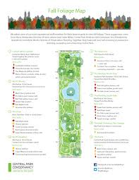Map Central Park Central Park Self Guided Tours Fall Foliage Map Galit Lurya