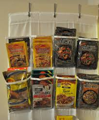 organize spices and seasoning packets household hint the