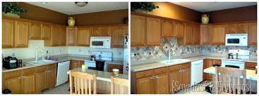 painted kitchen backsplash paint your backsplash sawdust and embryos all things thrifty