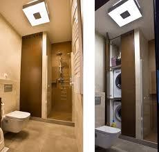 badezimmer einbauschrank waschmaschine und trockner aufeinander im einbauschrank im bad