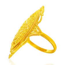 long gold rings images 22kt gold long finger ring ajri64489 22kt gold long finger jpg
