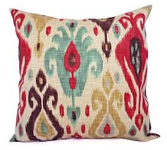 Couch Pillow Slipcovers Two Ikat Couch Pillow Covers Red And Brown Ikat Throw Pillows