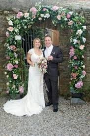 wedding arches hire pink silk flower wedding arch to hire and cornwall tie the