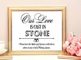 wedding wishing stones our is cast in sign wedding decorations wedding