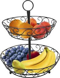 fruit basket amazon com sorbus 2 tier countertop fruit basket holder