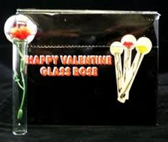 Glass Rose Happy Valentine Glass Rose Wholesale Only 1 40 Each