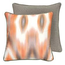 coussins orange coussin floride orange lelievre déco en ligne coussins