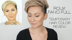 Best Temporary Hair Color To Cover Gray Roux Fanci Full Temporary Hair Color Rinse Review Youtube