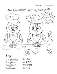 addition u0026 subtraction color by number printables june ideas