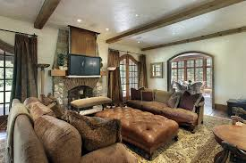 Family Room Design With Brown Leather Sofa Living Room Design Ideas - Comfortable family room furniture