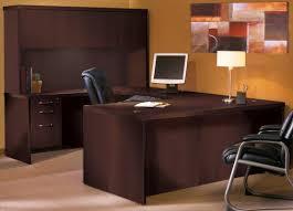 U Shape Office Desk by Mayline Aberdeen Series U Shape Executive Desk With Hutch