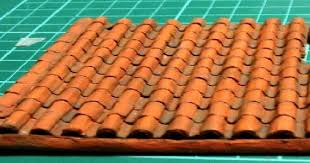 Terracotta Tile Roof How To Make A Clay Or Terracotta Tile Roof Using Corrugated Board