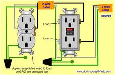 wiring diagram for a ground fault circuit interrupter electrical