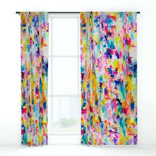 Pastel Coloured Curtains Bright Colored Curtains Teawing Co