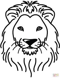lion portrait coloring free printable coloring pages