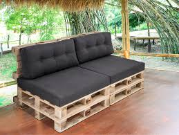 sofa paletten paletti 2 sitzer sofa aus paletten natur ohne armlehnen