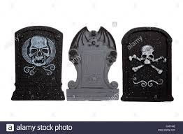 gothic halloween background a row of gothic halloween tombstones on a white background stock