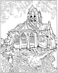 free coloring coloring van gogh starry night large