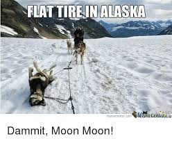 Moon Moon Meme - flat tire in alaska memecenter com mmcmecenuera dammit moon moon
