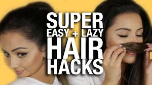 26 lazy hairstyling hacks super easy lazy hair hacks everyone can do ad youtube