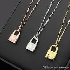 lock pendant necklace images Wholesale hot sale stainless steel lock shape pendant necklace in jpg