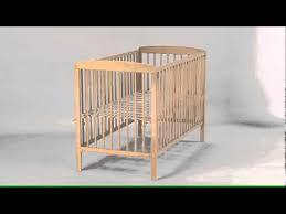 chambre bébé leclerc lit bois 2 côtés fixes