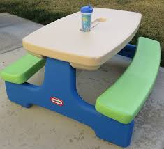 little tikes bench table candace s corner little tikes easy store picnic table review