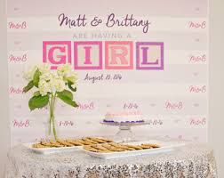 baby shower for girl baby shower backdrop etsy
