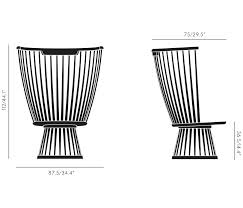 fan chair black lounge chairs from tom dixon architonic