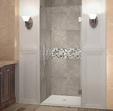34 Shower Door Aston Cascadia 34 X 72 Hinged Completely Frameless Single Panel