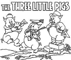 big bad wolf and the three little pigs coloring page new pages
