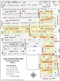 Dallas Zoning Map Resident Parking Districts City Of University Park Texas