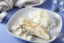 cuisiner du riz blanc blanc de poulet à la crème et aux chignons grazia